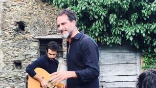 """Frame dello spettacolo """"Maicu man""""  (da sinistra Domenico D'Agostino e Dario Natale)"""