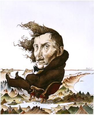 Alessandro Manzoni in un disegno di Tullio Pericoli