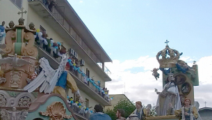 Il carro con la Madonna della Bruna (foto di Carmine Lauria)