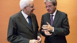 Sergio Mattarella e Paolo Gentiloni