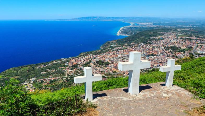 Panorama dal monte Sant'Elia (Palmi)