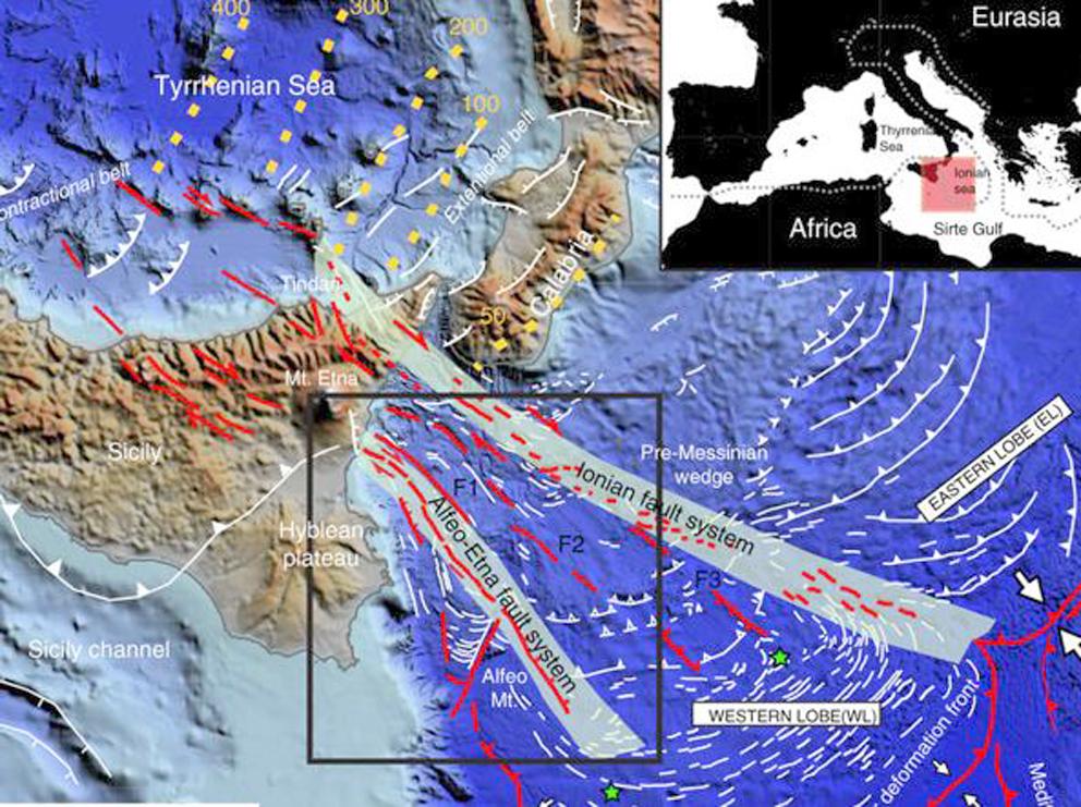 Terremoti: la forza sotterranea che allontana la Sicilia dalla Calabria