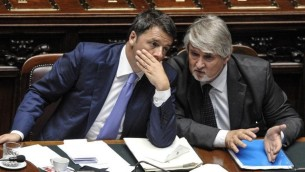 Il premier Renzi e il ministro del Lavoro Poletti