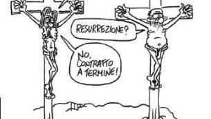 Una vignetta di Vauro