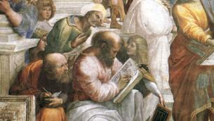 Pitagora raffigurato da Raffaello ne «La Scuola di Atene»