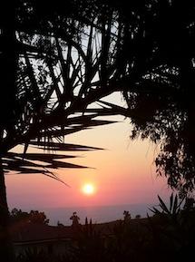 Tramonto visto dal residence La giungla (foto dal web)