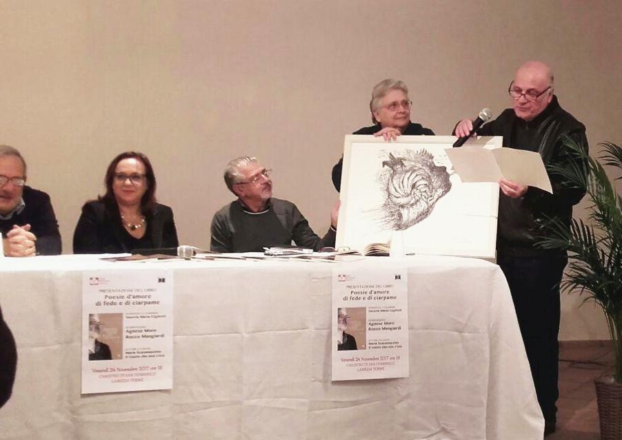 Federico Arcuri, Saveria Gigliotti, Rocco Mangiardi (terzo da sinistra) con Agnese Moro e Francesco Antonio Caporale