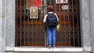 scuola_chiusa_cancello_bimbo_fg