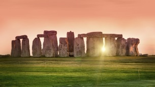 Sunset at the Stonehenge