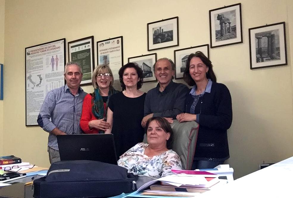 Lo staff del Registro tumori dell'Asp di Catanzaro