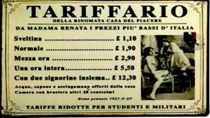 tariffario