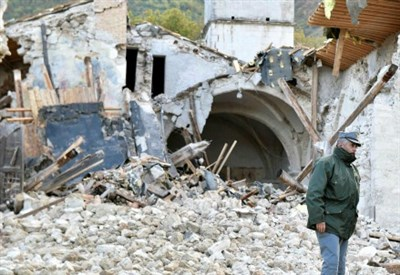 Terremoto, la notte degli sfollati